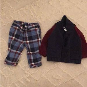 Janie and Jack sweater and pants